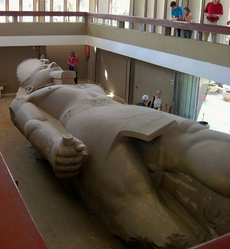 The colossal statue of King Ramses II in Memphis, Egypt