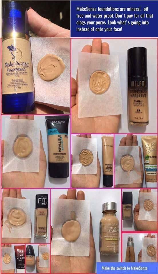 What are you putting in your skin? These waterproof, anti-aging foundations by SeneGence last all day, they are oil free, vegan, kosher, made in USA and will leave your skin feeling soft and moisturized without feeling heavy or sticky!  Senegence.com/Nanakisses