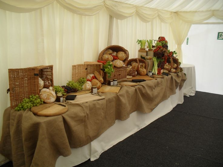 The table display for cheese and pate