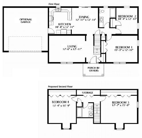 49 best cape cod floorplans images on pinterest floor for Single story cape cod house plans