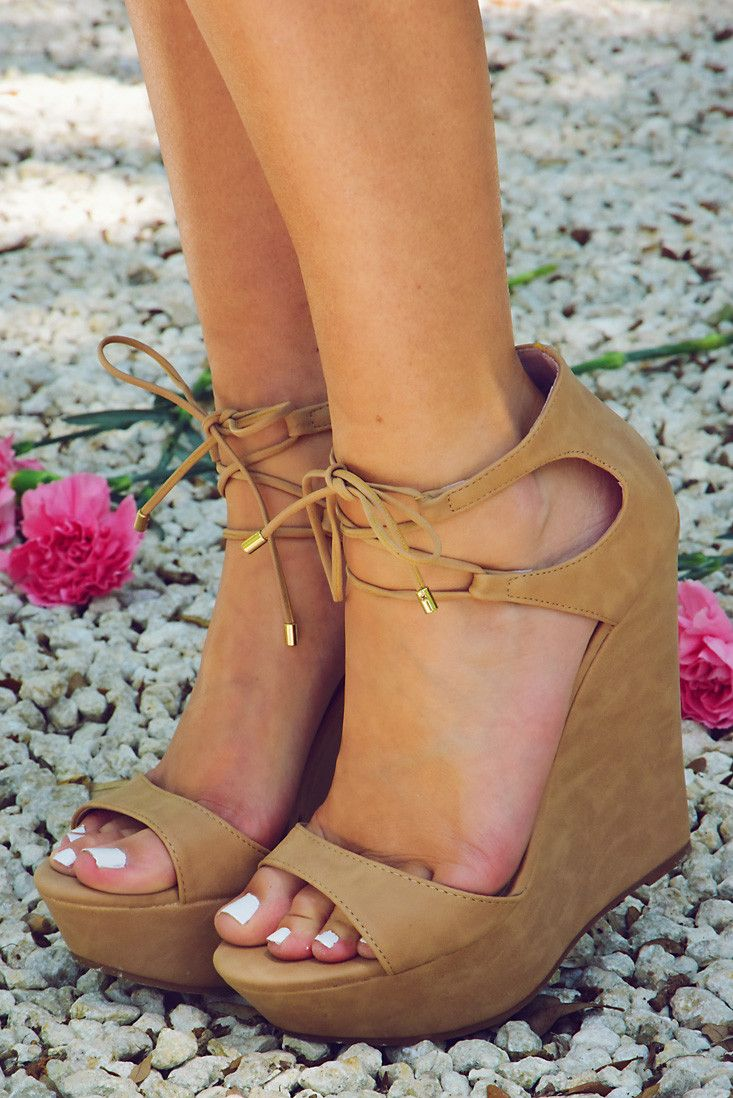 Take Me Out Wedges: Nude #shophopes