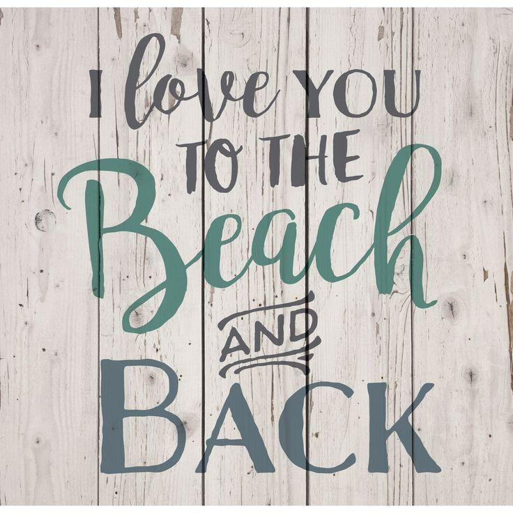 Eu te amo na praia e na decoração de paletes traseiras | Compras em Overstock.com – As melhores ofertas em arte em madeira   – Beach