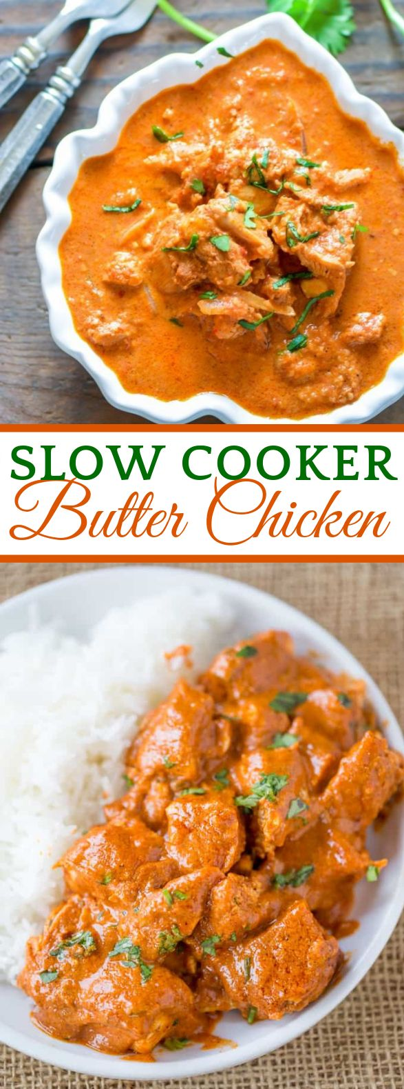 SLOW COOKER INDIAN BUTTER CHICKEN #dinner #indianfood