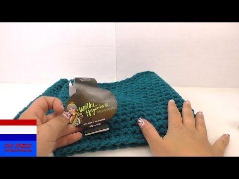 Sjaal haken voor beginners met vaste steken - YouTube