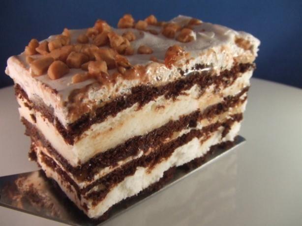 Frozen khalua cake