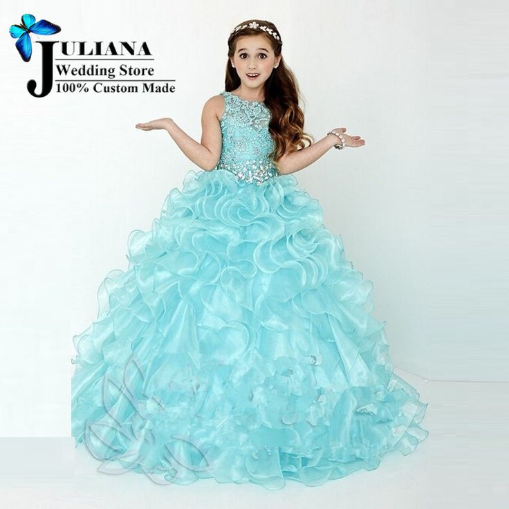 Pageant Dresses for Little Girls Ball Gown Mint Green Cascading Kids Evening Gowns Flower Girls Dresses for Party and Weddings-in Flower Girl Dresses from Weddings & Events on Aliexpress.com | Alibaba Group