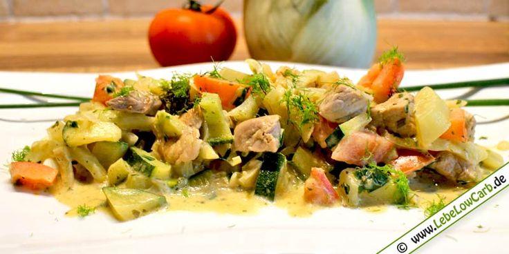 Low Carb Rezept - Fenchel-Zucchini-Pfanne auf lebelowcarb.de