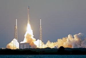 Deep Space ObservatoryThe unmanned Falcon 9 SpaceX rocket carrying the Deep Space Climate Observatory lifted off Wednesday from launch complex 40 at the Cape Canaveral Air Force Station in Florida. (John Raoux/Associated Press)