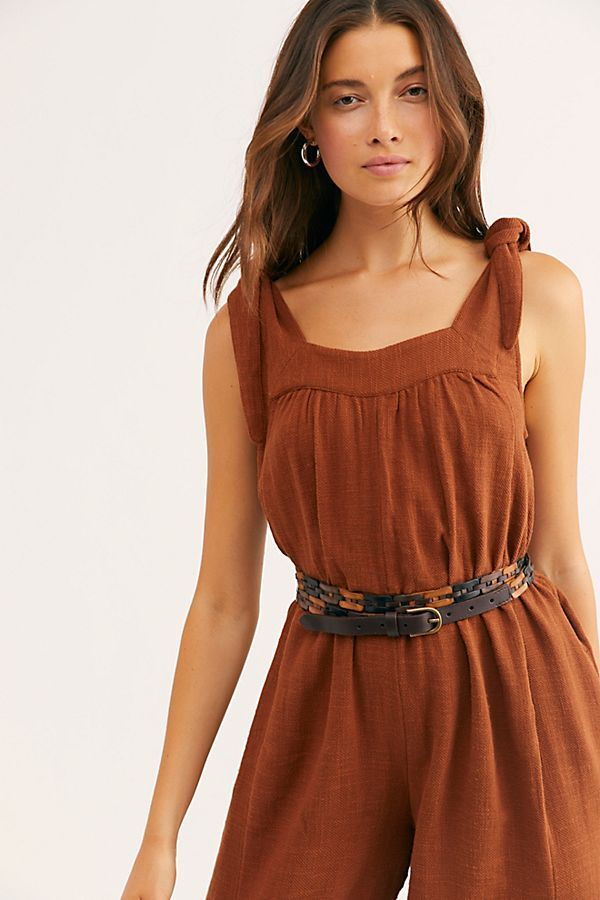 Benita Jumpsuit | Romper with skirt, Boho dress, Brown outfit