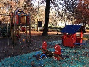 Modena, il parco giochi all'interno dei Giardini Ducali.