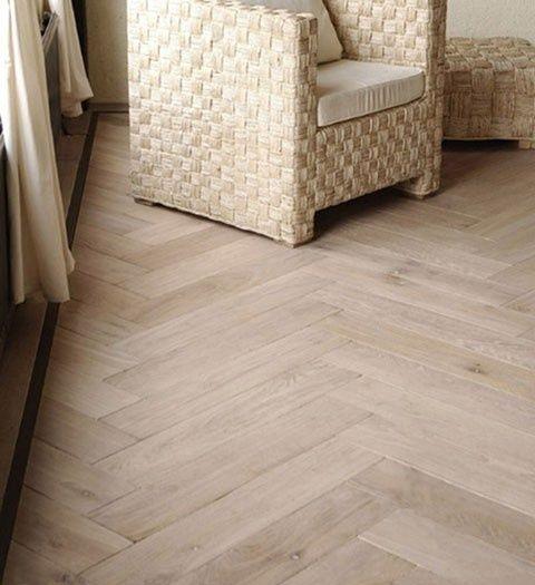 Herringbone oak wood floors