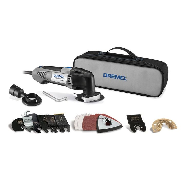 Dremel Multi-Max 2.3 Amp Corded Variable Speed Oscillating Multi-Tool Kit with 30 Accessories