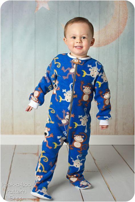 Classic Footed Pajamas: Blanket Sleeper Pattern, Footed Pajamas Pattern, Christmas Pajamas, Footie Pajamas Pattern