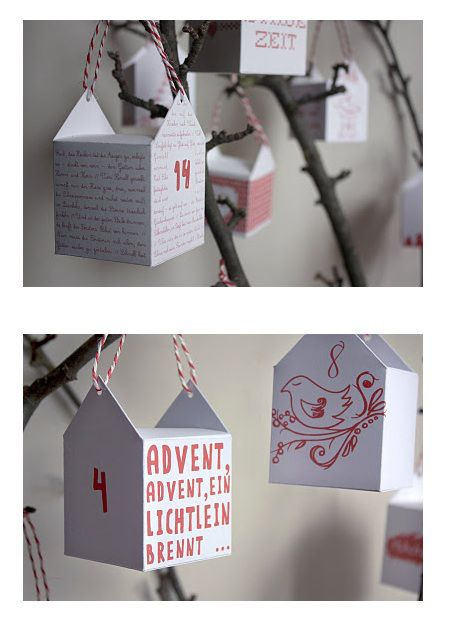 advent calendar, this idea but with Chinese style take out boxes