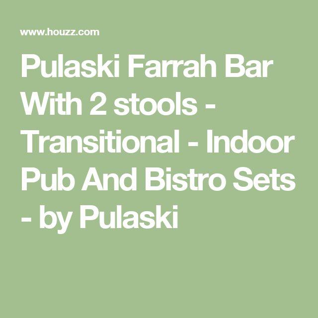 Pulaski Farrah Bar With 2 stools - Transitional - Indoor Pub And Bistro Sets - by Pulaski