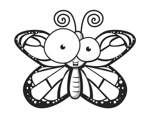 butterfly free printable coloring