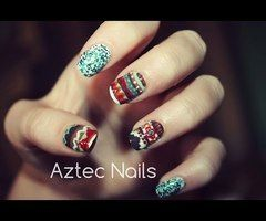 ▶ Aztec Nail Art ❤ - YouTube