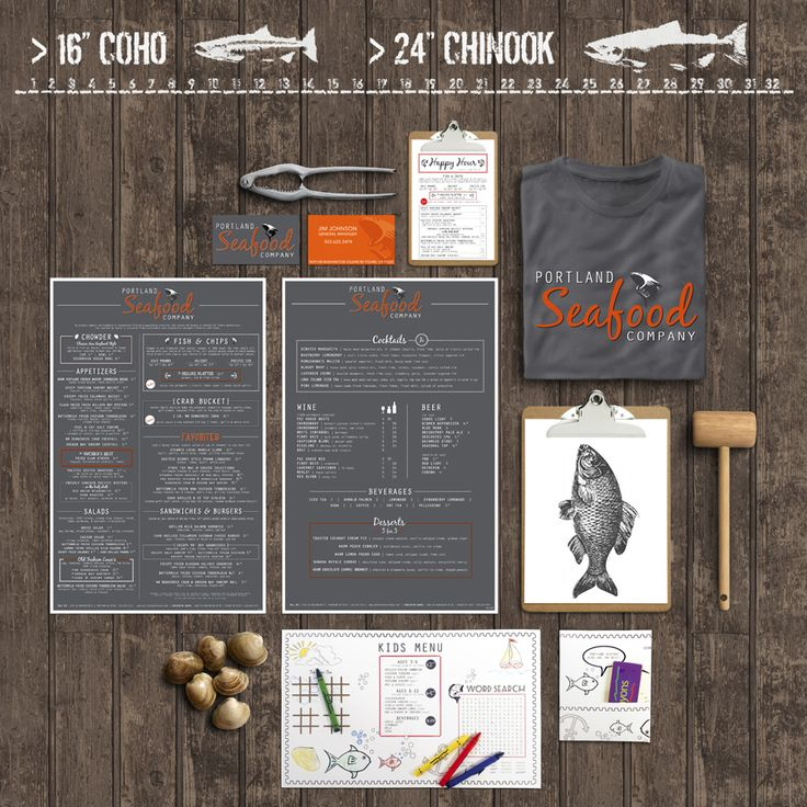 Best seafood branding images on pinterest graph