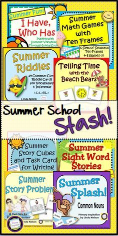 Here's a bundle of eight summer-themed activities that will help keep your little learners busy right up to the last day of school!  Also great for summer school programs.  $   https://www.teacherspayteachers.com/Product/Summer-Math-and-Literacy-Bundle-Summer-School-Stash-1889463https%3A//www.teacherspayteachers.com/Product/Summer-Math-and-Literacy-Bundle-Summer-School-Stash-1889463