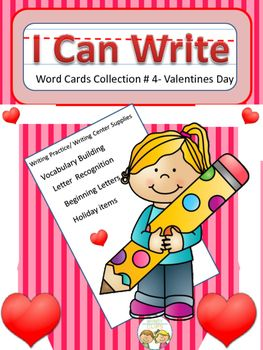 The possibilities are endless with this 16 card set of cards. Each card has an item found in celebration of Valentine's Day plus the written word. Students can use them to build the connection between written and spoken words. Cards can be used to build letter recognition and  writing skills.