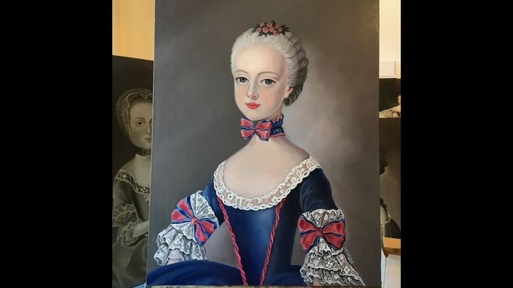 Oil painting / Color layer / Finishing Portrait of a Princess