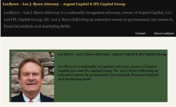 Lex J. Byers serves as senior counselor at Argent Capital, LLC, a financial architecture firm.