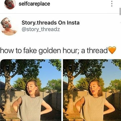 HOW TO FAKE GOLDEN HOUR!                           #selfcare