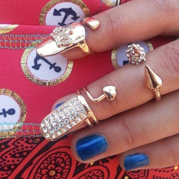 Assorted Nail & Midi rings available at www.nailcandi.co.za