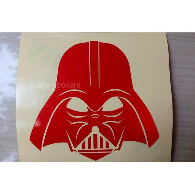 DarthVader Starwars Sticker In Reflective White Car And Bike - Custom vinyl decals india