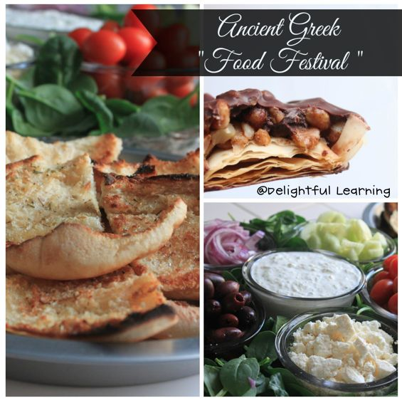 """For our hands on homeschooling project for Ancient Greece, we had a mini Ancient Greek """"Food Festival."""" We made homemade pita chips wit..."""