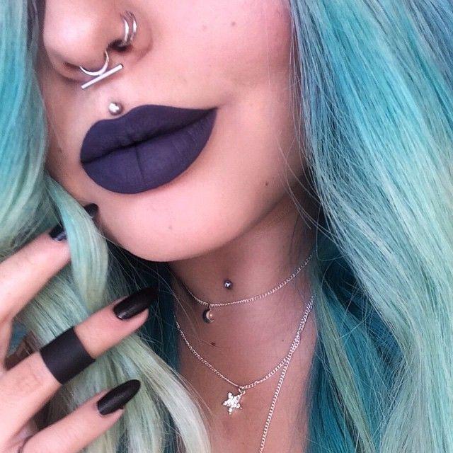 @jeffreestarcosmetics 'Abused' Velour Lipstick  Septum from @shopstayw1ld