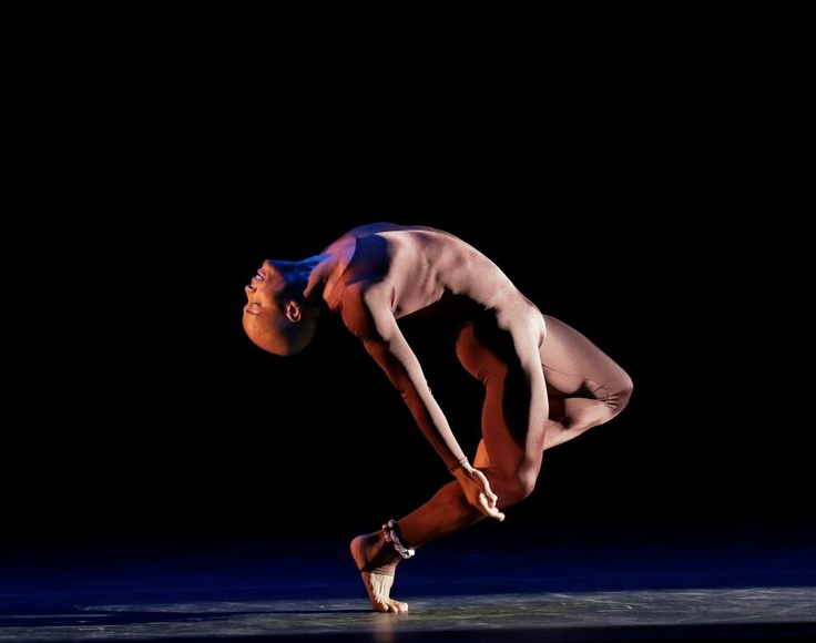 Alvin Ailey American Dance Theater.  Vernard J. Gilmore in Garth Fagan's FROM BEFORE. Photo by Paul Kolnik