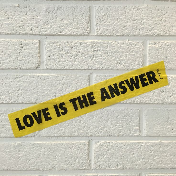 Love is the answer , Mr.brainwash