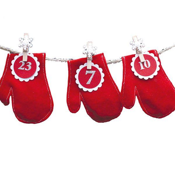 Pienistä huopalapasista saa kauniin joulukalenterin!