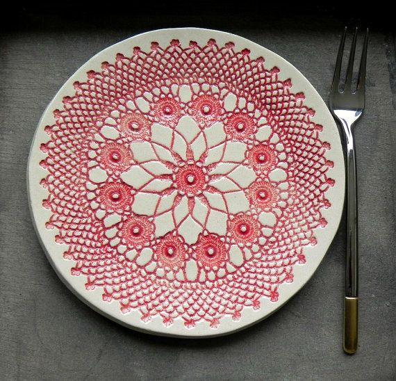 Rustieke Wit Keramische Schaaltje Blauwedessertbord door Ceraminic