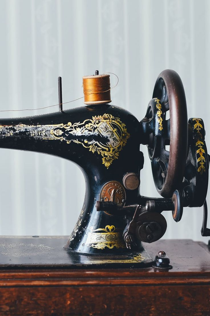 Black and Gold Sewing Machine