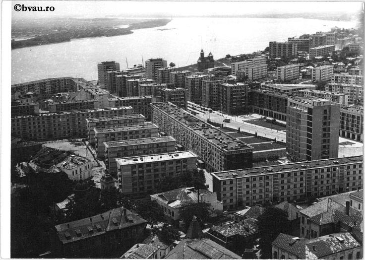 """Vedere generală, 1968, Galați, România. Imagine din colecțiile Bibliotecii """"V.A. Urechia"""" Galați."""