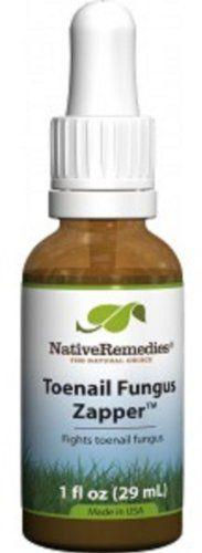 3 Bottles Native Remedies Toenail Fungus Zapper Herbal Remedy to help Reduce White, Yellow & Black Toenail Fungus - Vegan - Vegetarian - Lactose Free - Kosher - Gluten Free - 1 floz in each Bottle