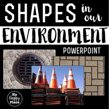 Get your students talking about shapes in the environment with this PowerPoint e-book. Packed with real-life photos of everyday scenes, this slideshow gives students many opportunities to use geometric and positional word vocabulary, strengthening their oral language skills and their understanding of flat and solid shapes and their names.