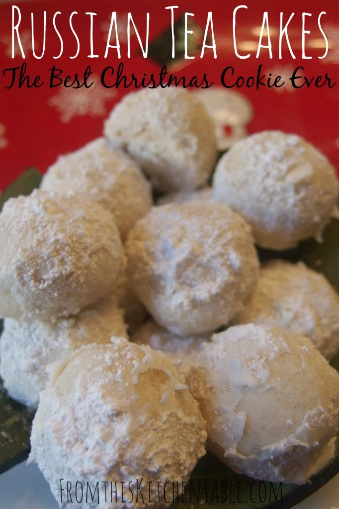 Russian Tea Cakes aka snowballs or Mexican Wedding Cakes (or Dust Balls as we called them. These are my favorite Christmas cookies. Super easy and they melt in your mouth.