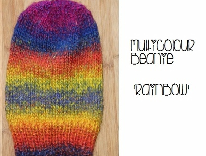 Multicoloured Long Beanie