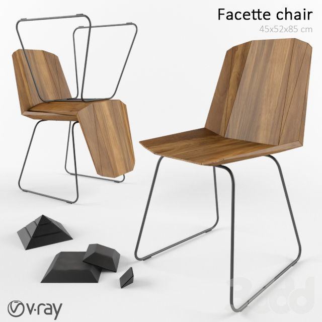 Facette chair and Pyramid