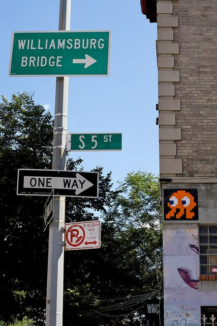 Space Invader. Williamsburg. Brooklyn. New York. by Matthew Kraus, via Flickr