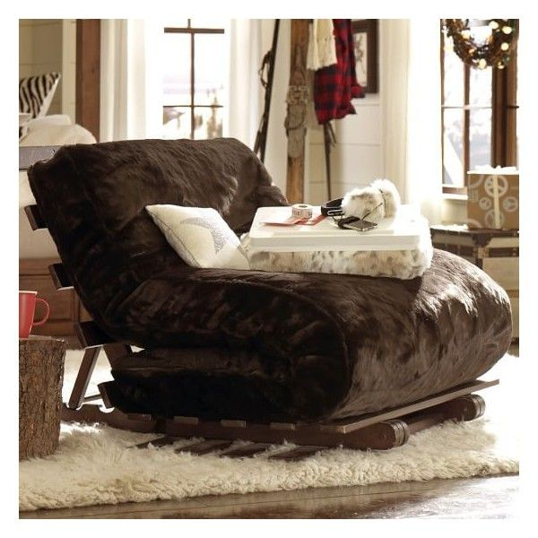 PB Teen Futon Set, Full, Luxe Fur Brown Faux Fur At Pottery Barn Teen Part 77