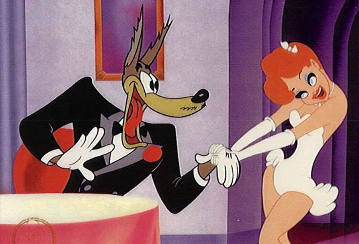 dress, ribbon, lashes, disparate stylization// Showplace of the Golden West – Tex Avery
