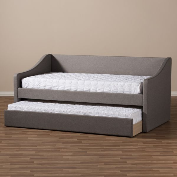 Baxton Studio Kallikrates Modern and Contemporary Daybed with Guest Trundle Bed
