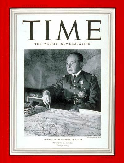 General Maurice Gamelin   Aug. 14, 1939