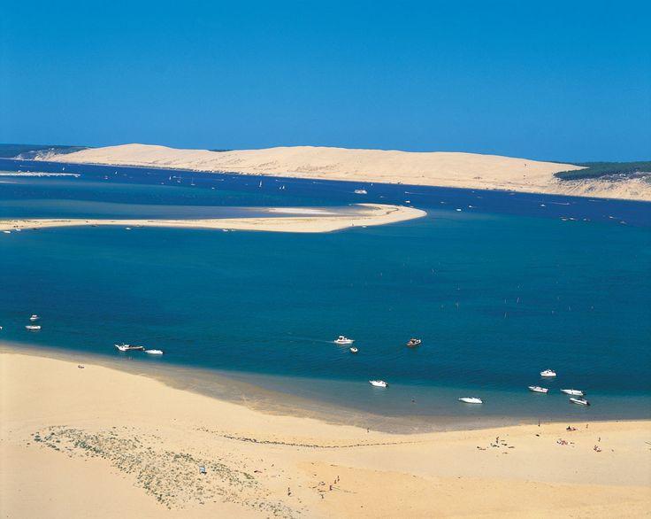 Bassin d'Arcachon...depuis la pointe du Cap, une vue sur la dune du Pyla