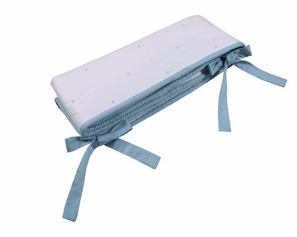 Petite Vigogne Bleu crib rail cover