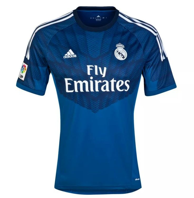 2014 15 real madrid blank (or custom) goalkeeper blue soccer shirt ... 4e9801753